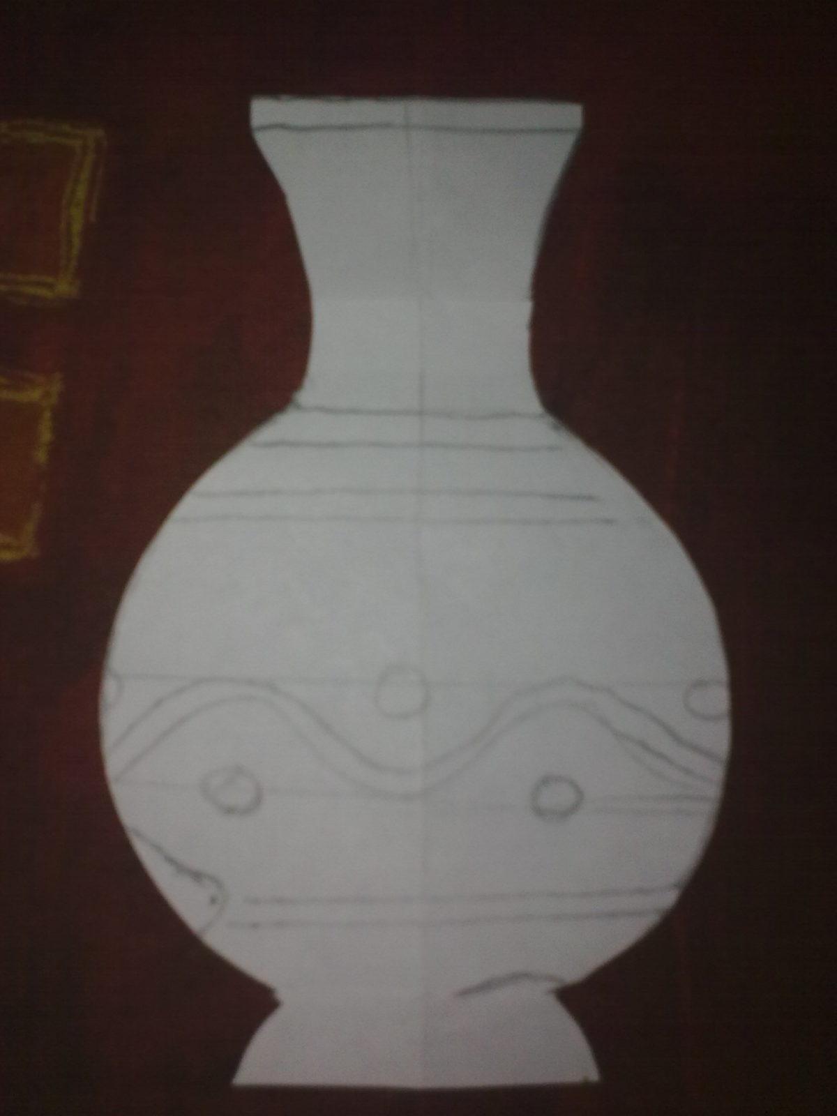 шаблон вазы