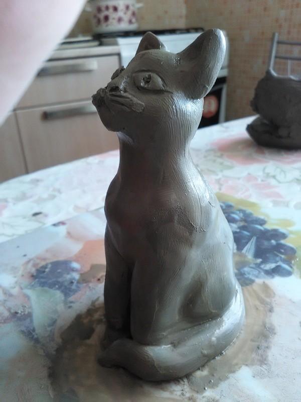 """Как сделать игрушку из глины """"Котик"""" и """"Заяц"""""""