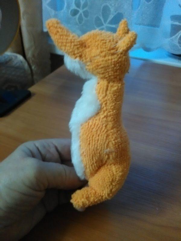 Мягкая игрушка из салфетки лиса