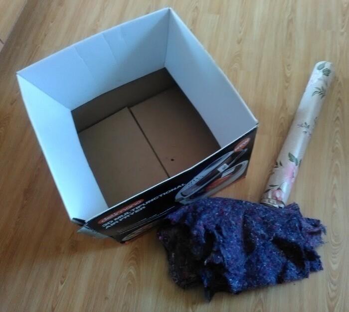 Как сделать ручку для коробки из скотча