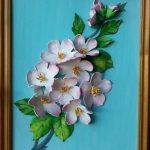 Панно цветы из фоамирана