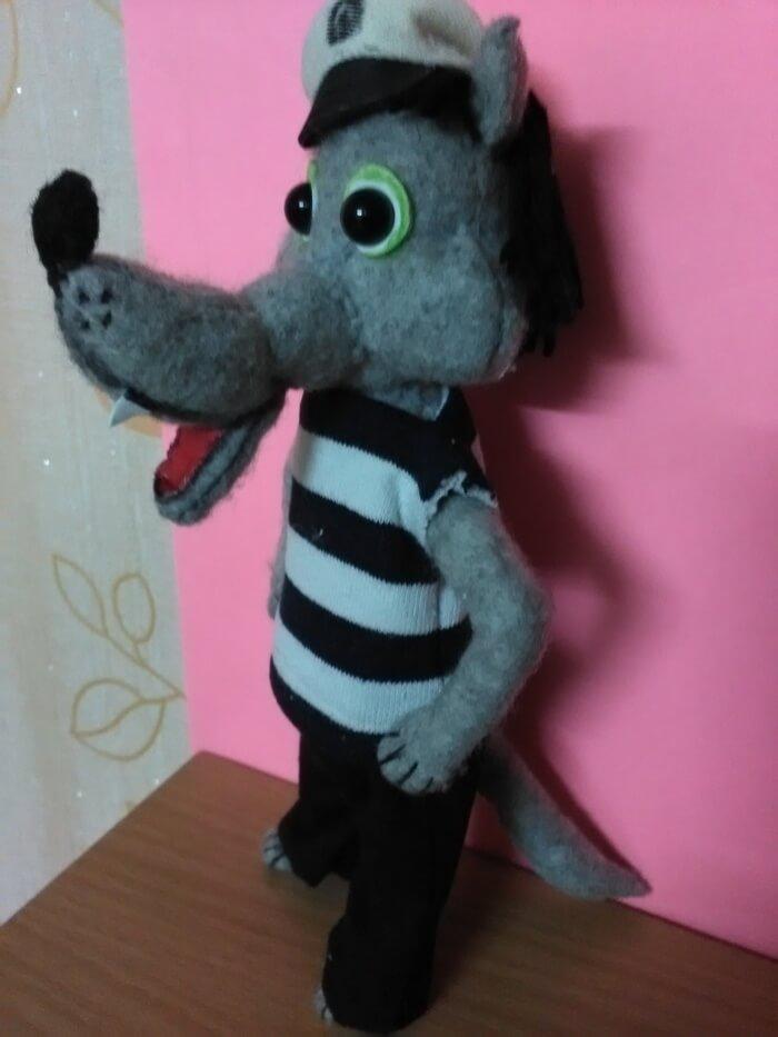 Мягкие игрушки своими руками герой мультфильмов волк