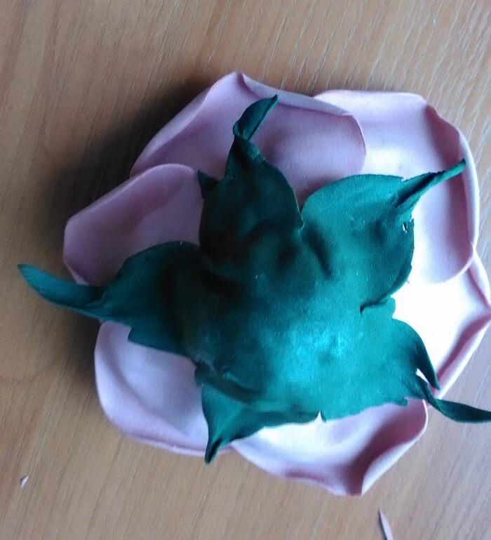 Роза с бутоном из фоамирана для начинающих