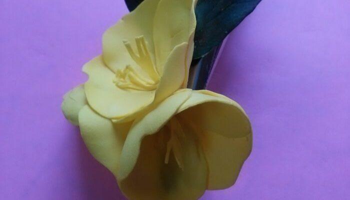 Украшение из фоамирана цветы энотеры мастер-класс