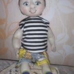 Как сделать куклу мальчика из капрона