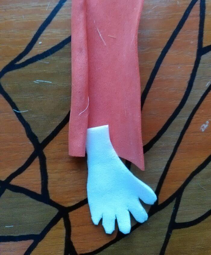 Кукла художник из фоамирана