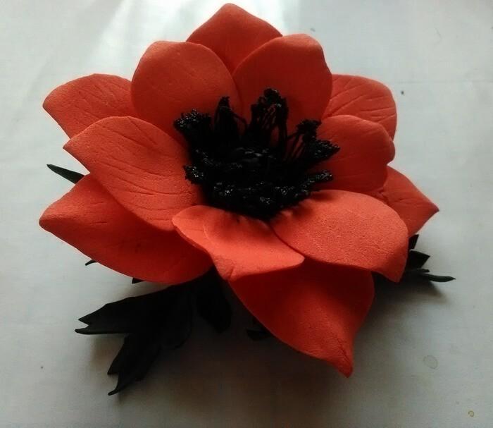 готовый цветок анемона