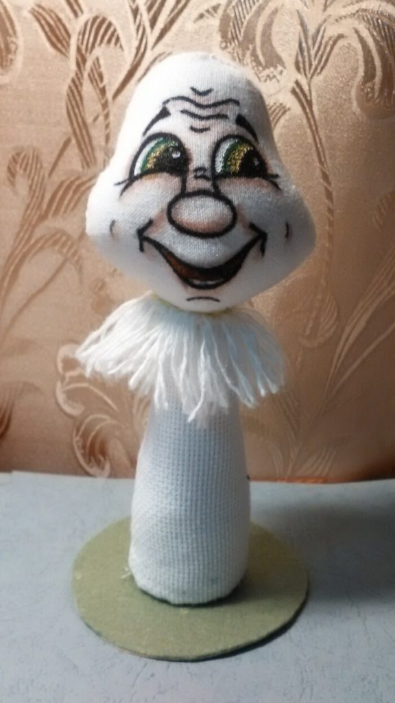 Текстильная игрушка мухомор