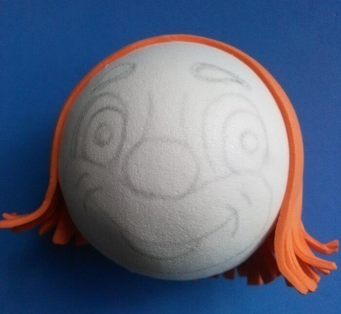 Кукла клоун из фоамирана