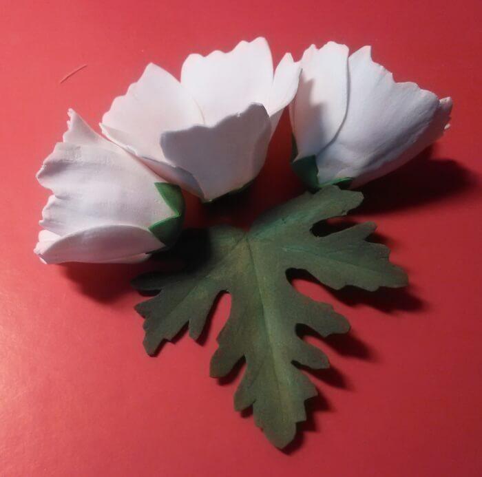 Цветок невеста из фоамирана