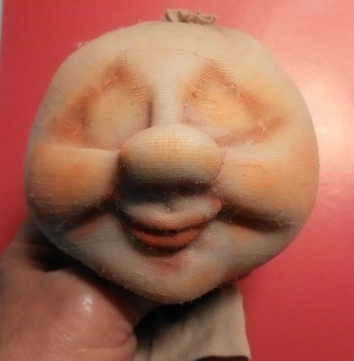 Кукла цветочный гномик из капрона