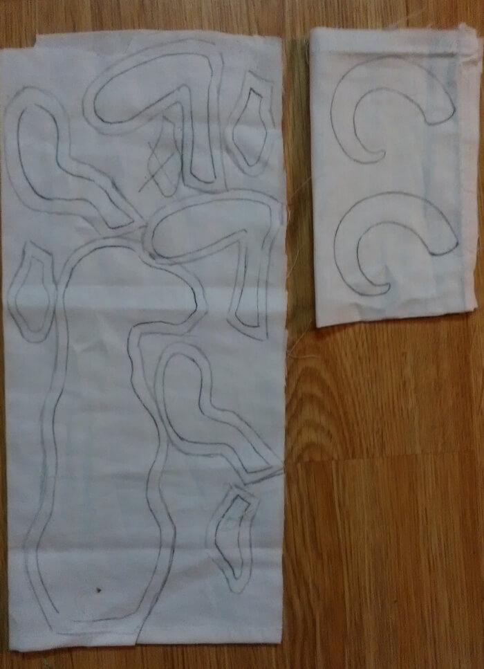 Текстильная игрушка козел