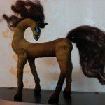 Интерьерная игрушка из текстиля конь