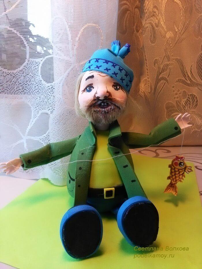 Кукла рыбак Фома из фоамирана