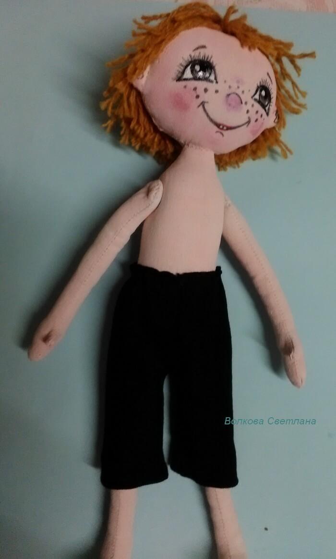 Кукла мальчик из текстиля