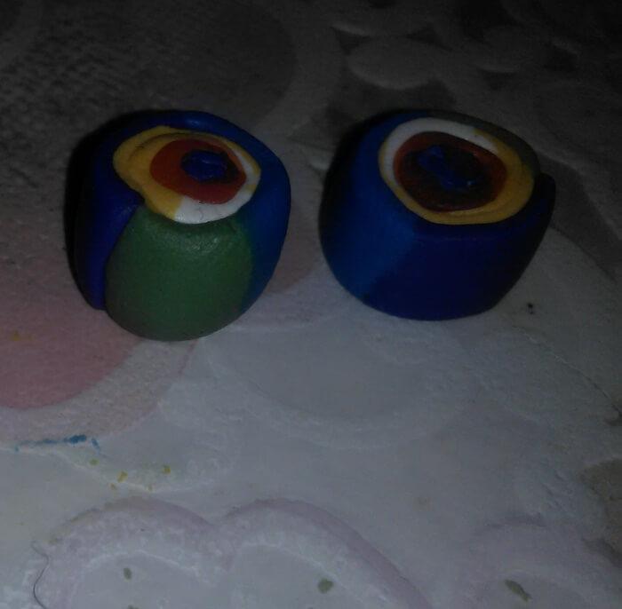 Кулон фантазия из полимерной глины для начинающих