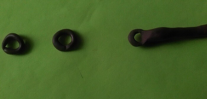 Кулон голубая стрекоза из полимерной глины