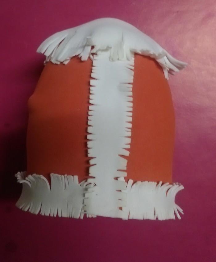 Новогодняя кукла дед мороз из  фоамирана