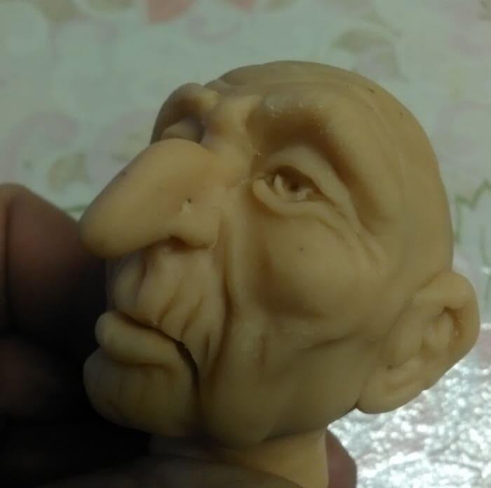 голова куклы из глины