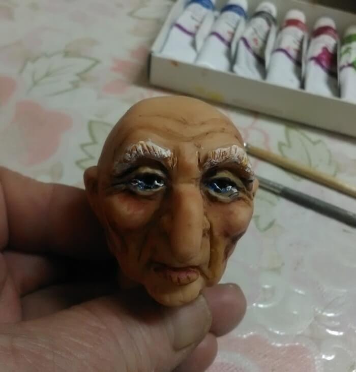 роспись лица куклы