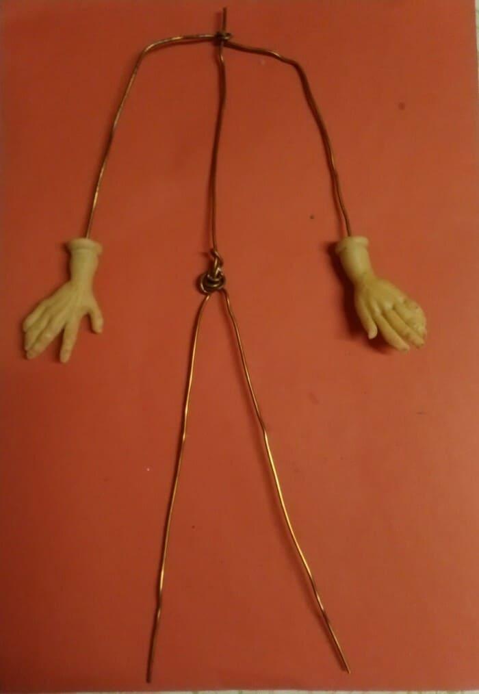 каркас для куклы из глины