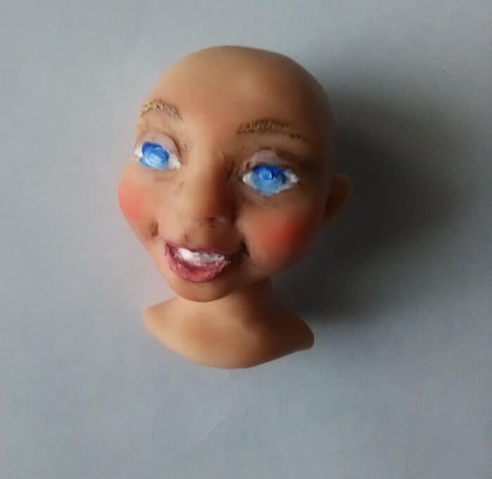 Кукла из массы для лепки своими руками 77