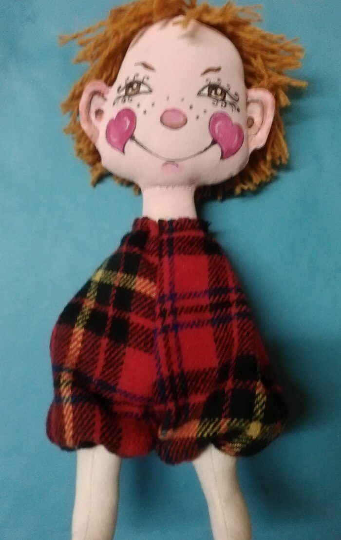 Игрушка из ткани своими руками. Текстильная кукла.Одежда.