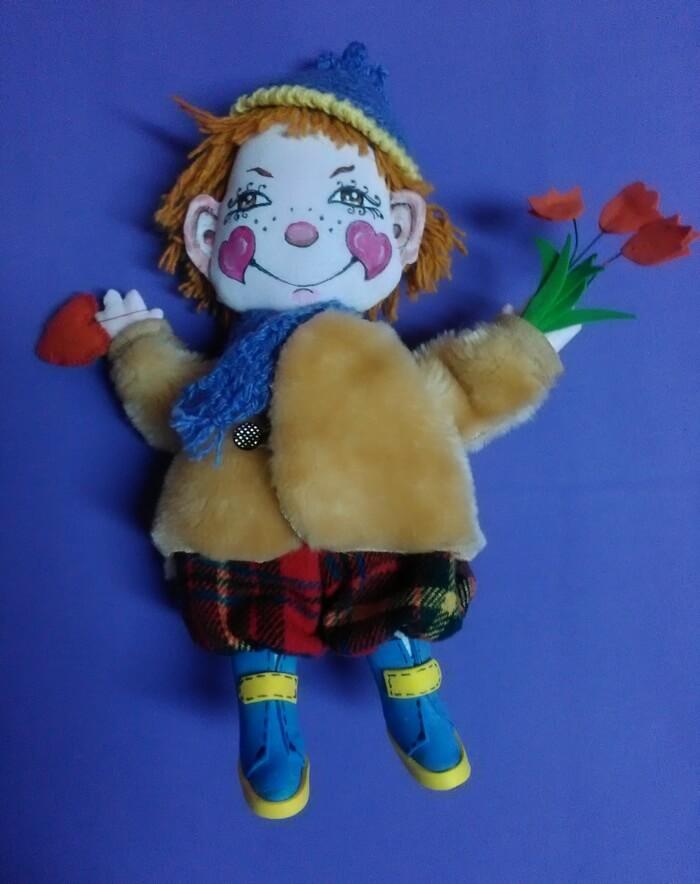 Игрушка из ткани своими руками. Текстильная кукла.