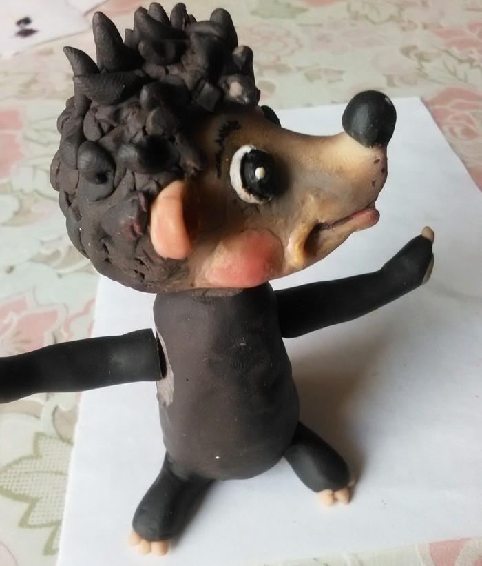 Игрушка из полимерной глины в подарок. Игрушка из пластика своими руками.