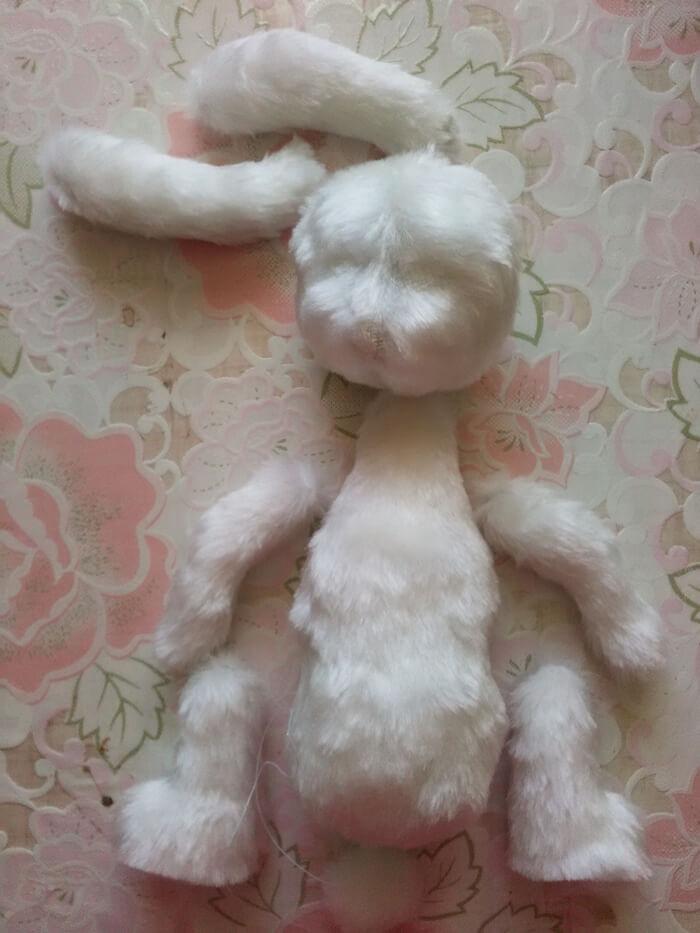 Мягкая игрушка зайка своими руками игровая кукла для ребенка.