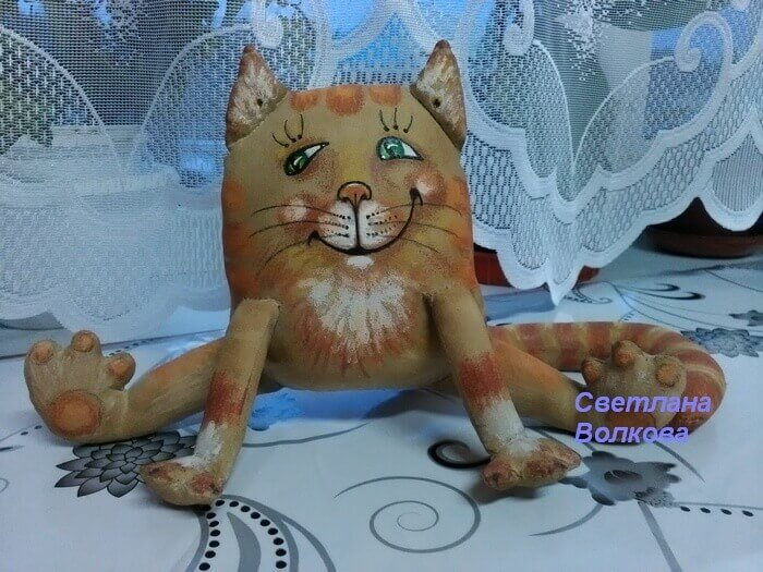 Кофейный кот Васька своими руками